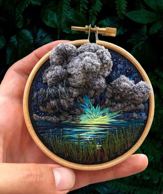 needle painting embroidery by vera shimunia 6 The Amazing Needle Painting of Vera Shimunia (15 Photos)