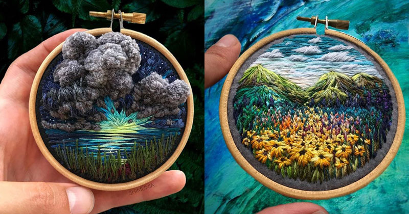 The Amazing 'Needle Painting' of Vera Shimunia (15 Photos)