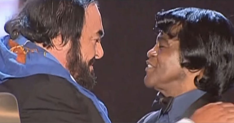 That Time Pavarotti and James Brown Got Together For an UnforgettableDuet
