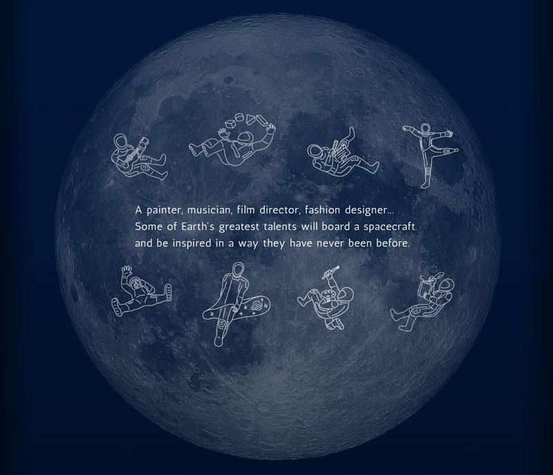 spacex musk maezawa moon artist project 2 A Billionaire is Taking 8 Artists Around the Moon for Free to Inspire Them
