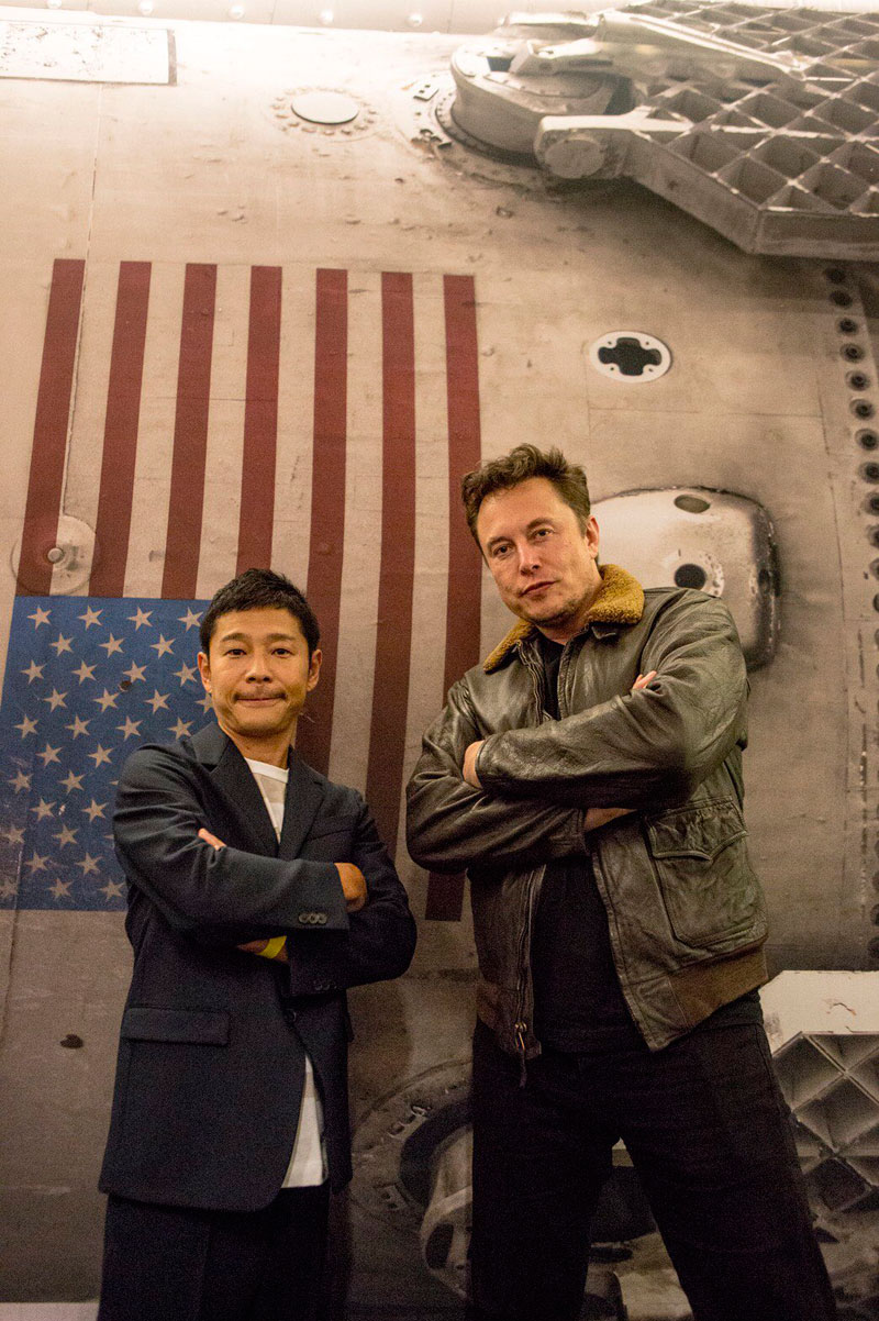 spacex musk maezawa moon artist project 5 A Billionaire is Taking 8 Artists Around the Moon for Free to Inspire Them