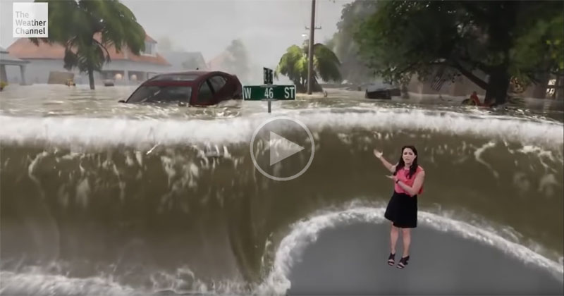 The Weather Channel's New Green Screen Tech is Impressive