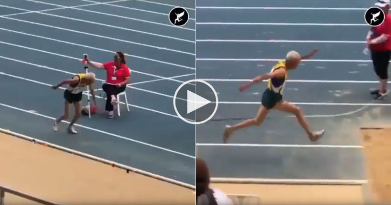 90 Year Old Man Does Amazing Triple Jump