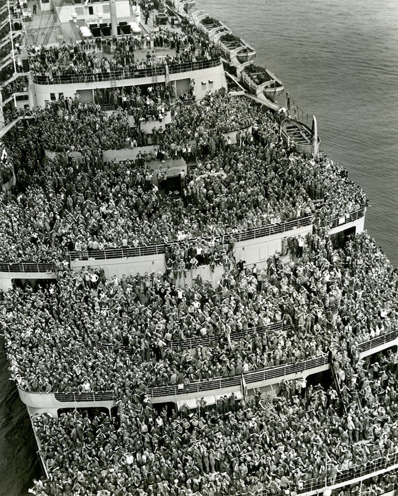 American Troops On Their Way Home from WWII