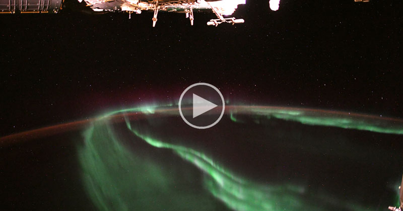 A Brief and Beautiful Timelapse of Aurora Borealis Dancing Above Earth