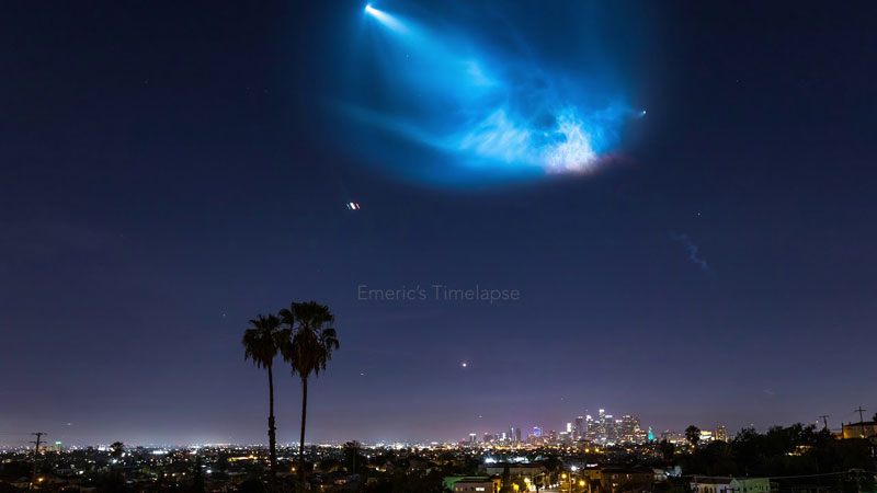 best photos vids and timelapses from spacex launch over la 5 The Best Photos, Videos, and Timelapses from SpaceXs Launch Over LA