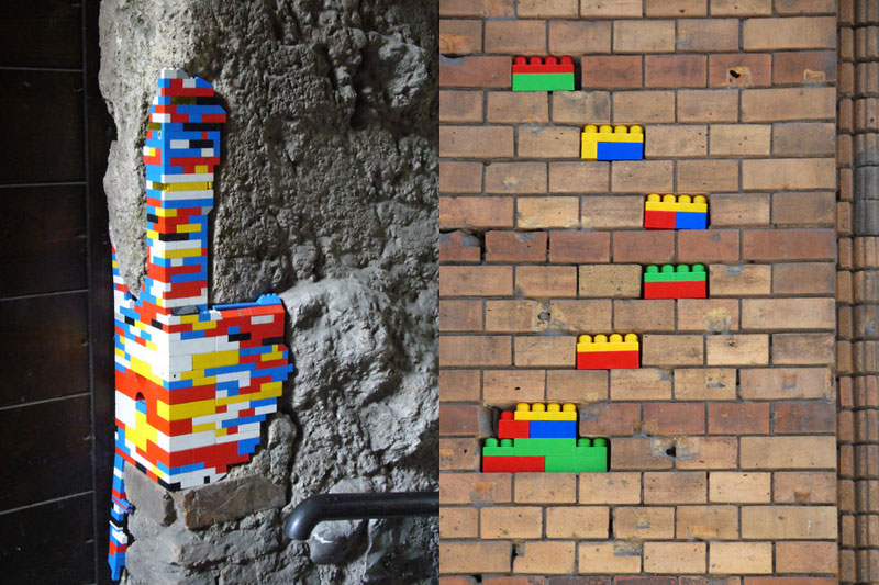 filling holes and cracks in walls with lego jan vormann 10 People Around the Globe Are Filling Cracks With LEGO (10 Photos)