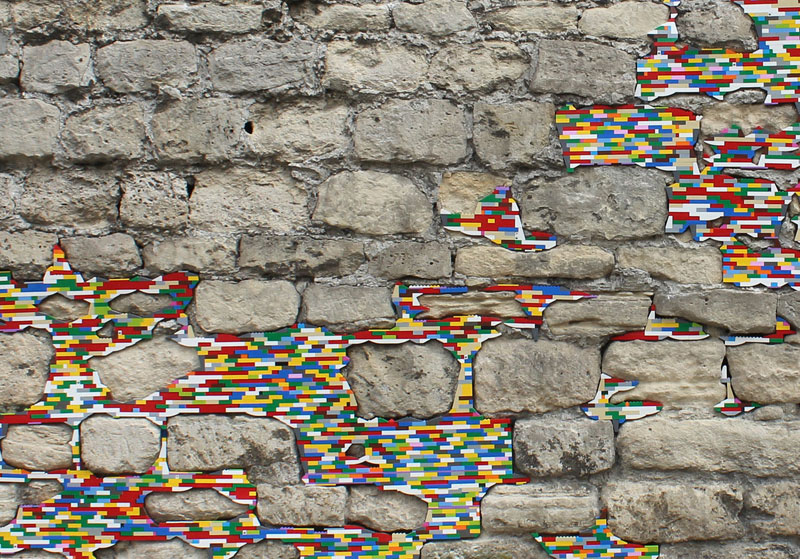filling holes and cracks in walls with lego jan vormann 6 People Around the Globe Are Filling Cracks With LEGO (10 Photos)