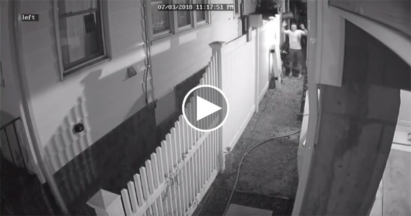 Drunk People vs House with Motion Activated Sprinklers, a Compilation