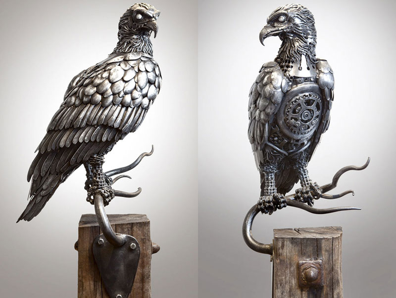metal animal sculptures by alan williams 1 Alan Williams Recycles Discarded Metal Into Awesome Animal Sculptures