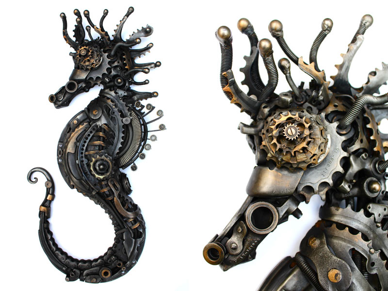 metal animal sculptures by alan williams 12 Alan Williams Recycles Discarded Metal Into Awesome Animal Sculptures