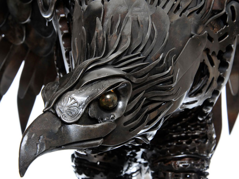 metal animal sculptures by alan williams 2 Alan Williams Recycles Discarded Metal Into Awesome Animal Sculptures