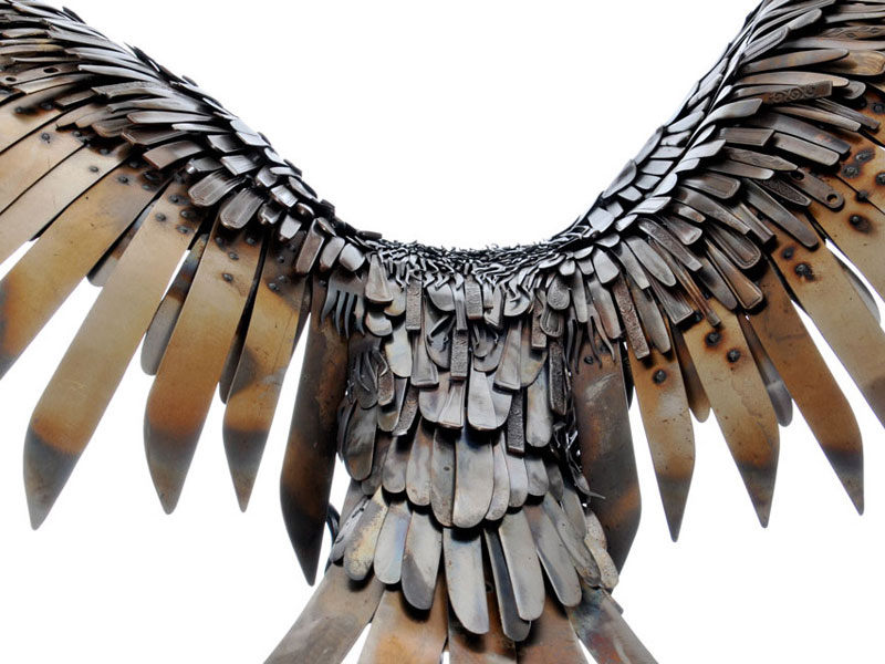 metal animal sculptures by alan williams 3 Alan Williams Recycles Discarded Metal Into Awesome Animal Sculptures
