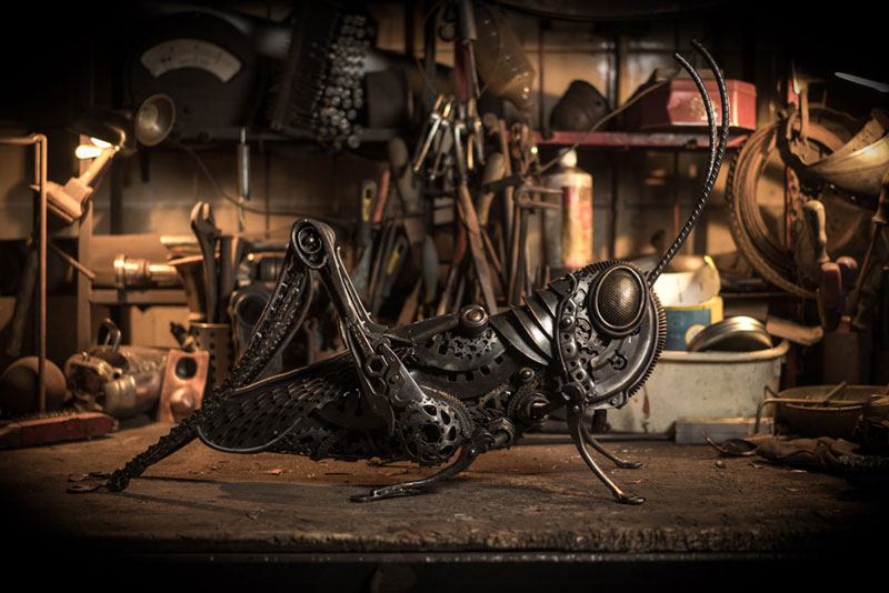 metal animal sculptures by alan williams 8 Alan Williams Recycles Discarded Metal Into Awesome Animal Sculptures