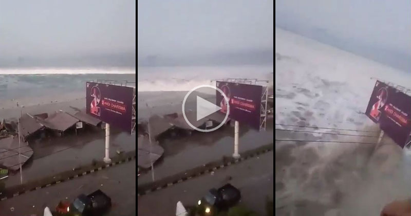 Raw Video Captures the Terrifying Moment a Tsunami Strikes Indonesia