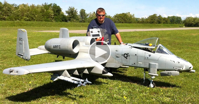 This Giant Remote Controlled A-10 Warthog is Awesome