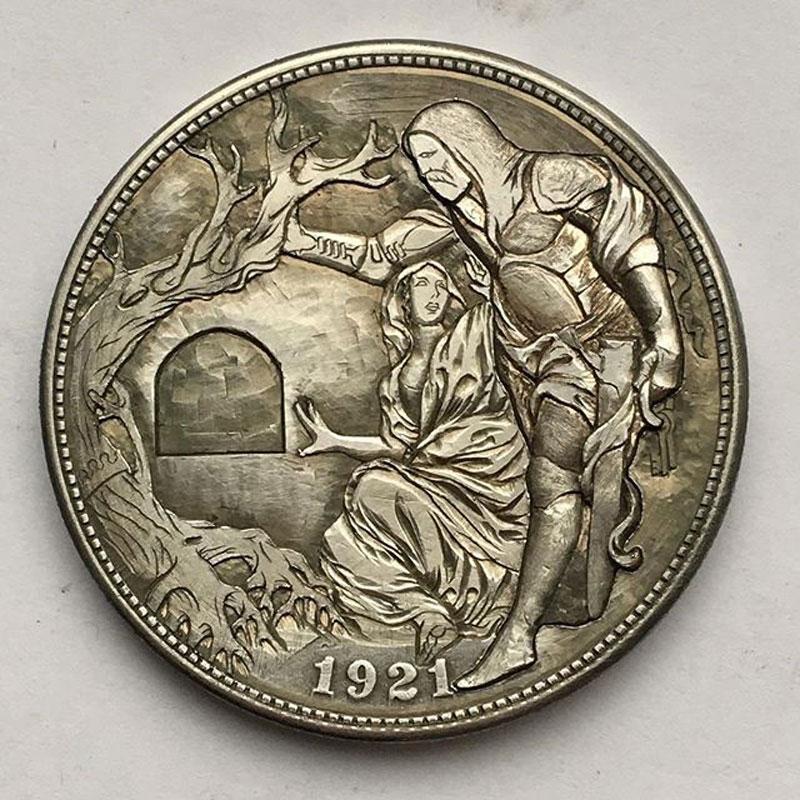 "Savior Knight /""Hobo Nickel/"" on Morgan Dollar Coin **"
