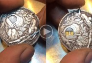 Epic Hobo Nickel: Guy Carves Silver Dollar with Trap Jaws and Golden 'Bait' Coin