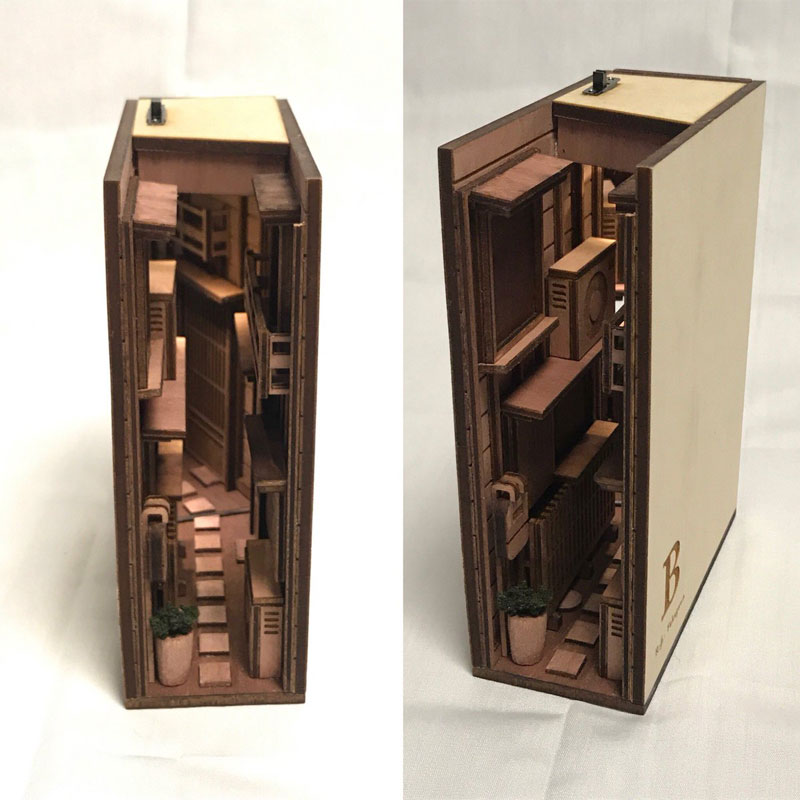 bookshelf insert woodwork by monde 6 Beautiful Wooden Bookshelf Inserts by Japanese Artist Monde