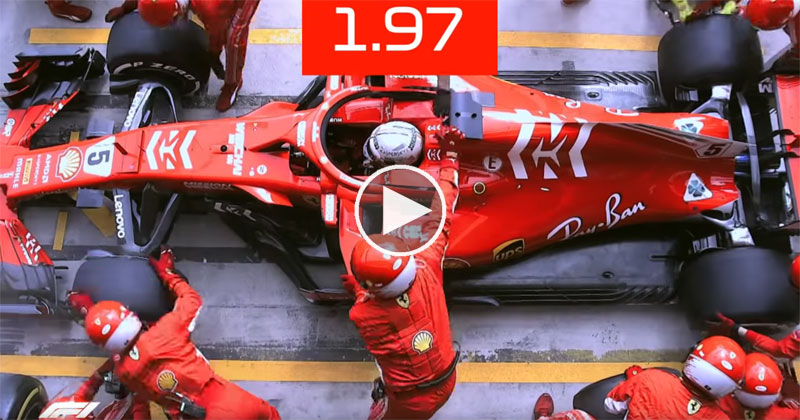 What a 1.97 Second F1 Pit Stop Looks Like FromAbove