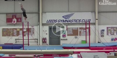 Gymnast Sets Horizontal Bar Backflip World Record with 20 ft Leap