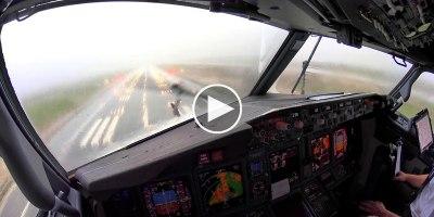 [4K Pilot POV] Landing in an Intense Thunderstorm at Palma deMallorca