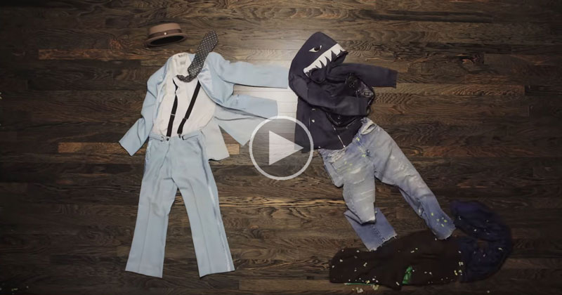 This Stop Motion Fight Sequence Using Nothing But Clothing is Bananas