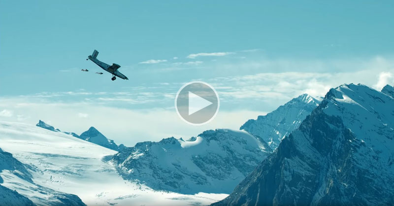 BASE Jumping Into an Airplane Looks as Crazy as it Sounds