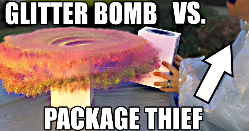 This Over-Engineered, Glitter Bomb Bait Package is an AbsoluteMasterpiece