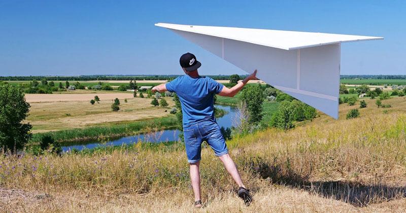 DIY 'Super Sized' 122-Inch Flying Paper (Polystyrene) Airplane