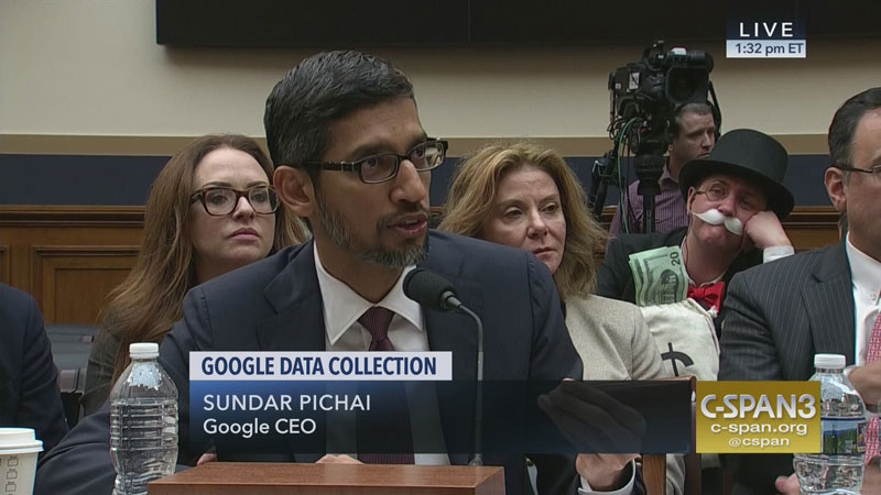 monopoly man at google ceo sundar pichai congressional hearing 1 The Monopoly Man Showed Up At Googles Congressional Hearing Today