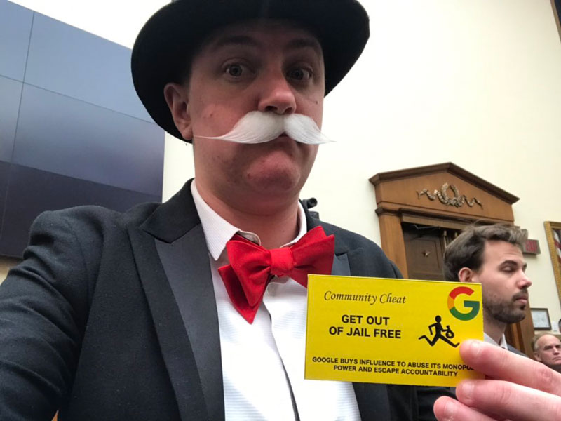 monopoly man at google ceo sundar pichai congressional hearing 2 The Monopoly Man Showed Up At Googles Congressional Hearing Today