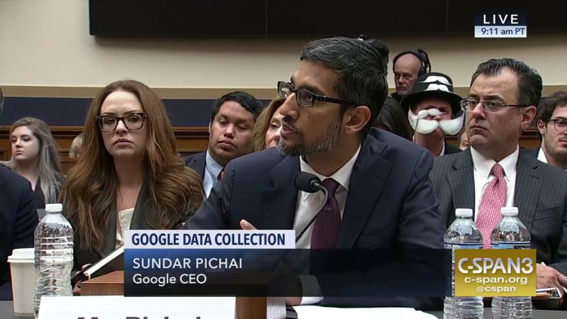 monopoly man at google ceo sundar pichai congressional hearing 6 The Monopoly Man Showed Up At Googles Congressional Hearing Today