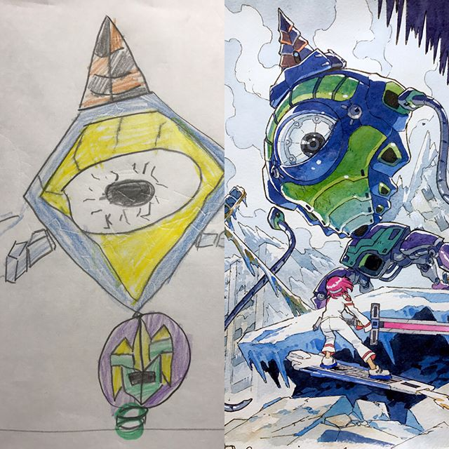 thomas romain illustrates his kids drawings 15 Animator Dad Illustrates His Kids Drawings and Everything is Awesome
