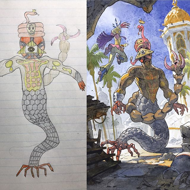 thomas romain illustrates his kids drawings 20 Animator Dad Illustrates His Kids Drawings and Everything is Awesome