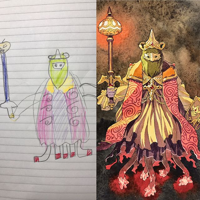 thomas romain illustrates his kids drawings 21 Animator Dad Illustrates His Kids Drawings and Everything is Awesome