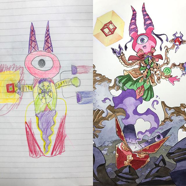 thomas romain illustrates his kids drawings 23 Animator Dad Illustrates His Kids Drawings and Everything is Awesome