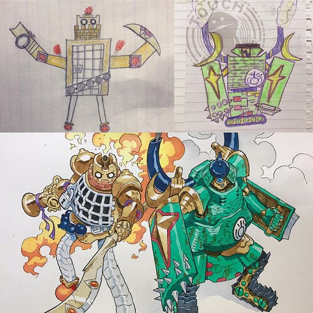thomas romain illustrates his kids drawings 28 Animator Dad Illustrates His Kids Drawings and Everything is Awesome