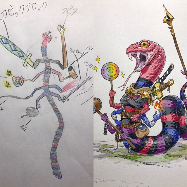 thomas romain illustrates his kids drawings 3 Animator Dad Illustrates His Kids Drawings and Everything is Awesome