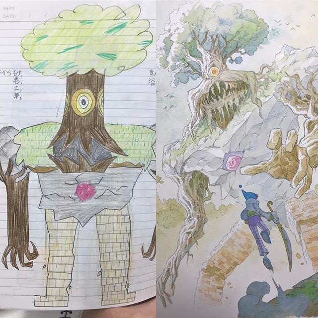 thomas romain illustrates his kids drawings 30 Animator Dad Illustrates His Kids Drawings and Everything is Awesome