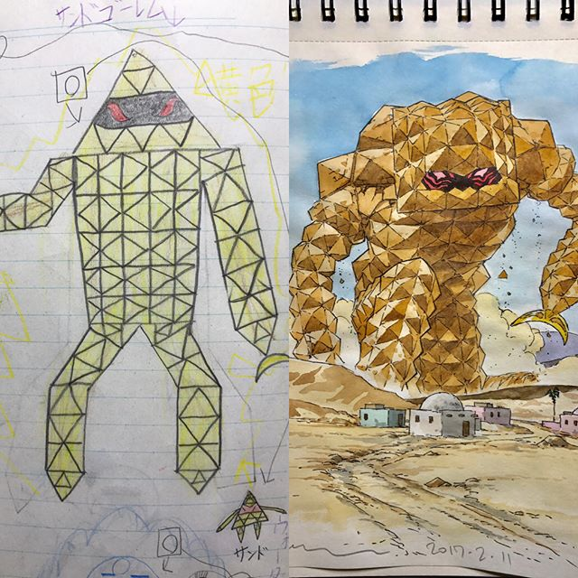 thomas romain illustrates his kids drawings 5 Animator Dad Illustrates His Kids Drawings and Everything is Awesome