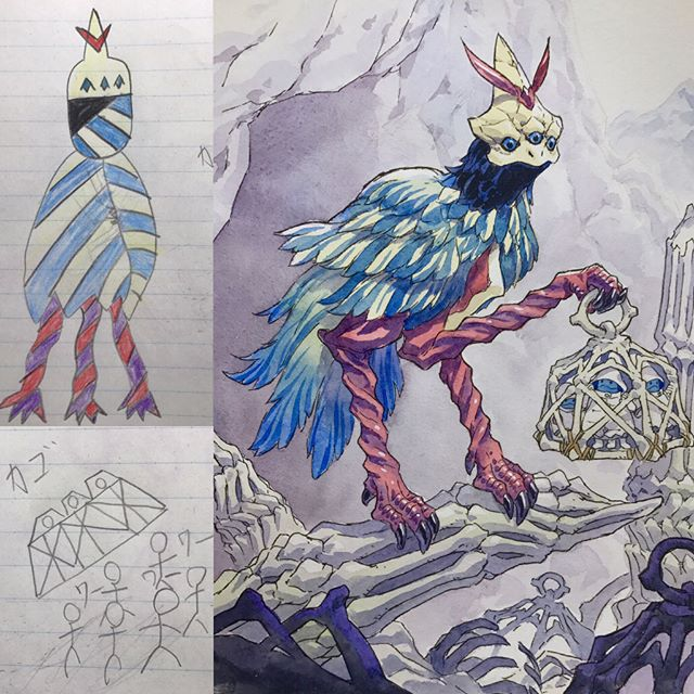 thomas romain illustrates his kids drawings 6 Animator Dad Illustrates His Kids Drawings and Everything is Awesome
