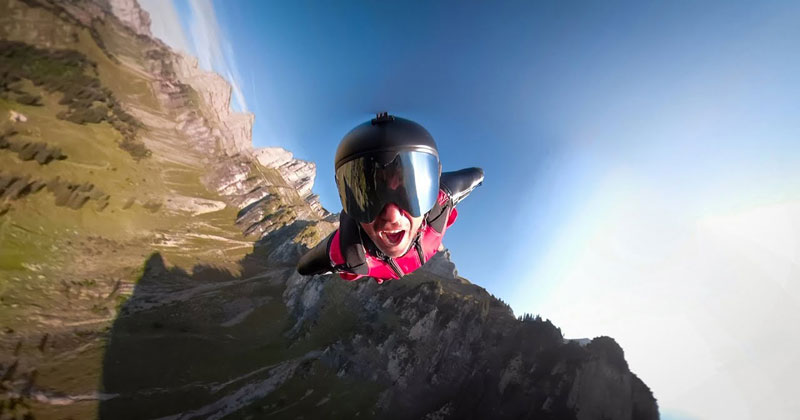 Guy Writes and Performs Own Song; Takes Flight in Wingsuit for Music Vid