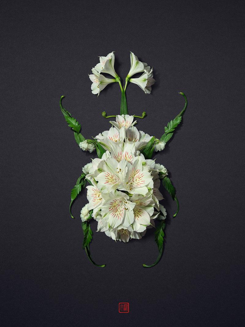 animal portraits made from flowers raku inoue 8 When Kingdoms Collide: Animal Portraits Made from Floral Arrangements