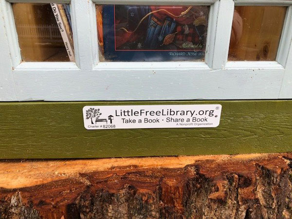 book tree library in old trunk sharalee armitage 4 Woman Forced to Remove Dying Tree, Turns It Into Tiny Library Instead