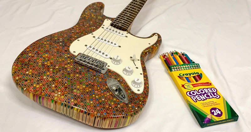 Watch Diy Fender Stratocaster Made From 1 200 Colored
