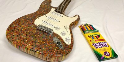 Watch: DIY Fender Stratocaster Made From 1,200 Colored Pencils