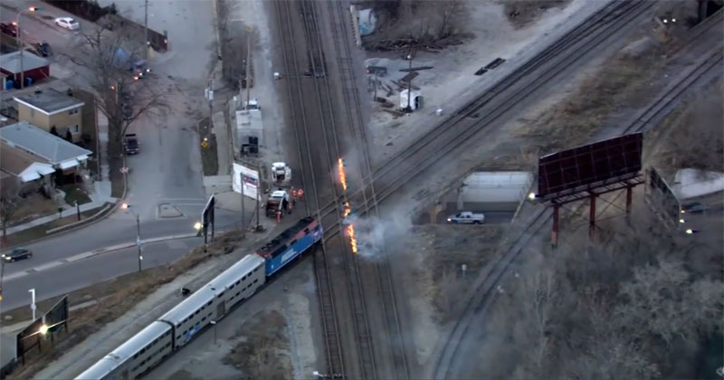 It's So Cold in Chicago They're Setting Tracks on Fire to Keep TrainsMoving