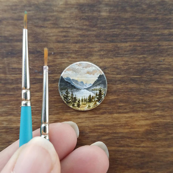 penny paintings by bry marie 6 Bry Marie Paints on Tiny Affordable Canvases