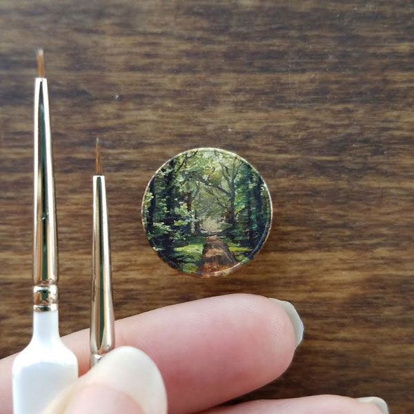 penny paintings by bry marie 7 Bry Marie Paints on Tiny Affordable Canvases